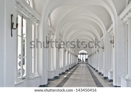 Interior of Cameron Gallery in Tsarskoe Selo near St. Petersburg, Russia - stock photo