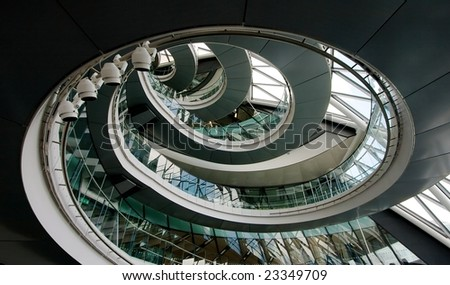 Interior of City Hall London - stock photo