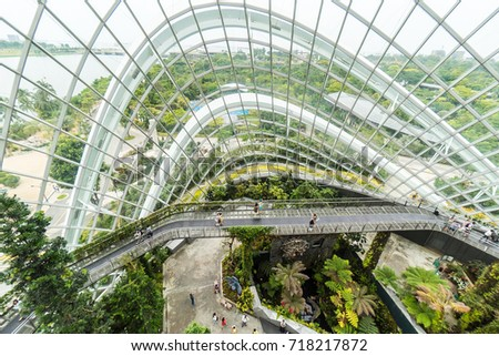 Singapore March 262017 Cloud Forest Dome Stock Photo 711682087 ...