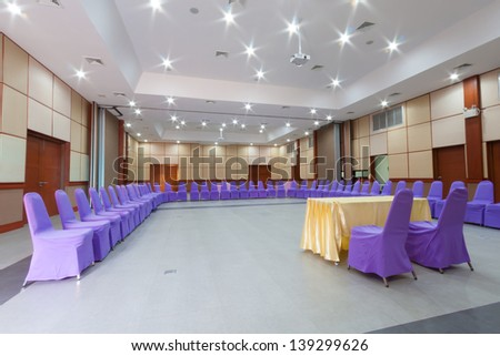 interior of conference hall setting for meeting group. - stock photo