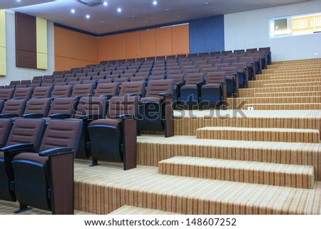 Interior of conference room - stock photo