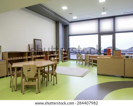 Interior of day nursery ( kindergarten) - stock photo