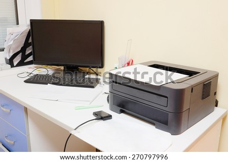 Interior of doctor's working place  - stock photo