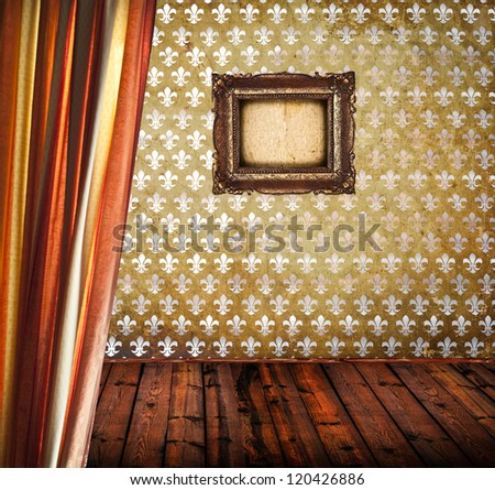 Interior of empty antique room - stock photo