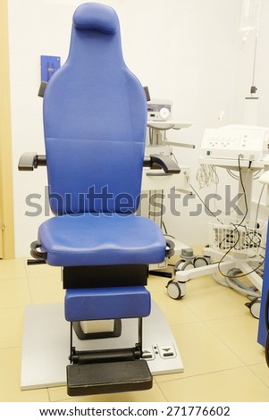 Interior of ENT consulting room - stock photo