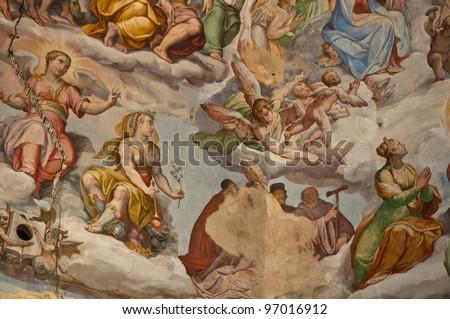 Interior of Florence Italy Duomo - stock photo
