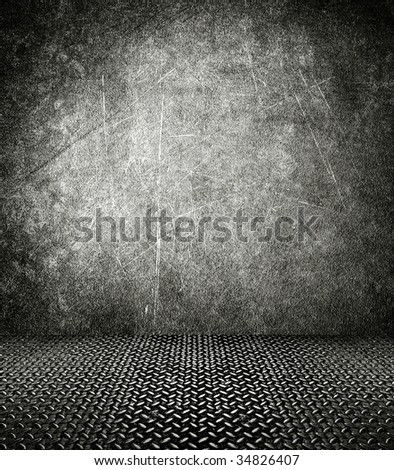 interior of grunge building - stock photo