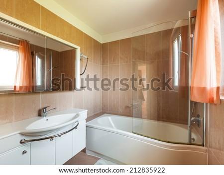 Interior of house, bathroom view  - stock photo