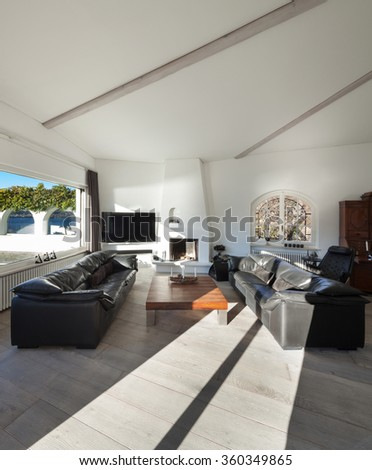 Interior House Comfortable Living Room Two Stock Photo