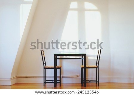 interior of light kitchen - stock photo