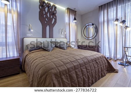 Interior of living bedroom - stock photo