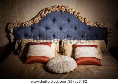 Interior of luxury bedroom  - stock photo