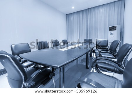 interior of meeting room in modern office