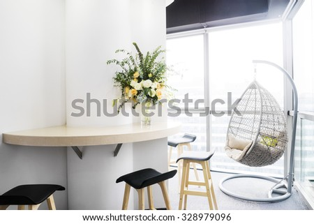 interior of moder office - stock photo