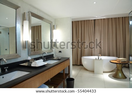 Interior of modern comfortable bathroom