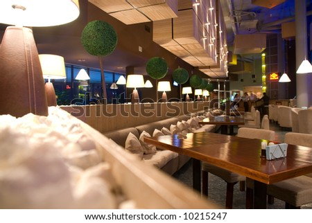 interior of modern nigt club - stock photo