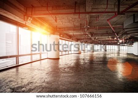 interior of modern office - stock photo