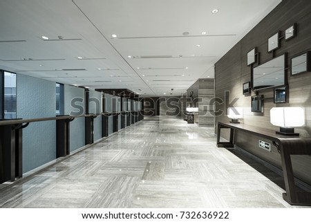 Interior of modern office Lobby.