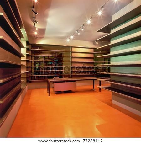 Interior of modern shop (empty) - stock photo