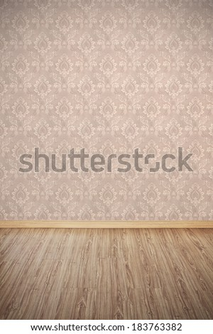 Interior of Old Empty Room Background - stock photo