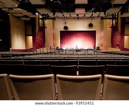 Interior of Performing Arts School - stock photo