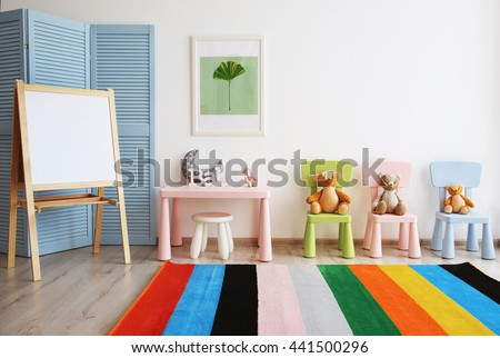 Interior of playing room - stock photo