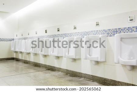 interior of private restroom , toilet - stock photo