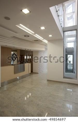 interior of reception room - stock photo