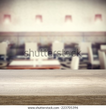 interior of restaurant and  - stock photo