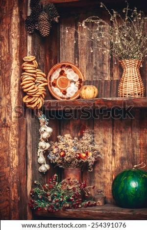 Interior of russian HOME - stock photo