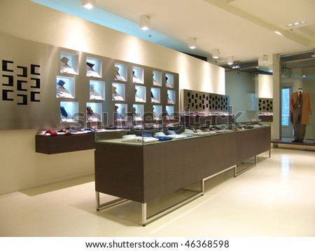 interior of shop - stock photo