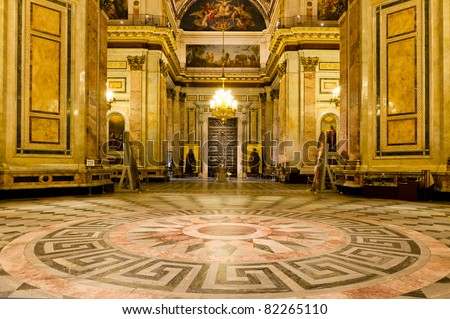 Interior of St. Isaac's Cathedral - stock photo