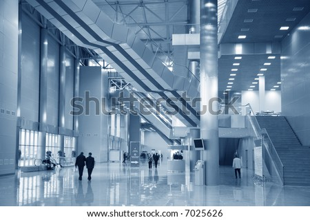 interior of the business center - stock photo