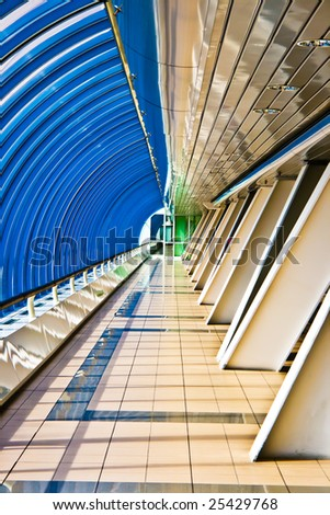 Interior of the Business Centre Bridge passage 2, Moscow, Russia - stock photo