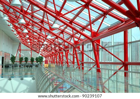 Interior of the modern office building - stock photo