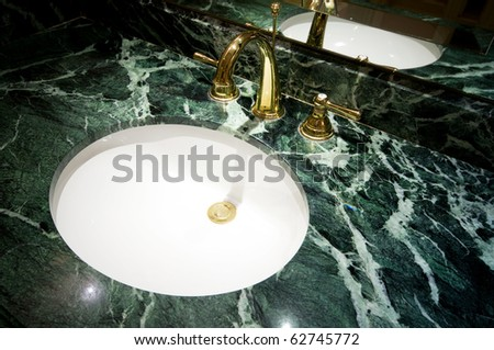 Interior of the room - Sink in the bathroom - stock photo