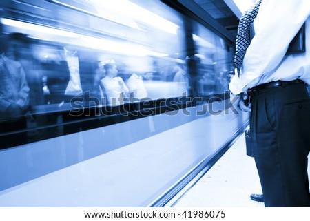 interior of the subway stadion in shanghai china. - stock photo
