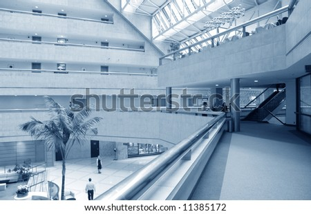interior of trade center from balcony
