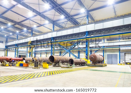 interior of workshop - stock photo