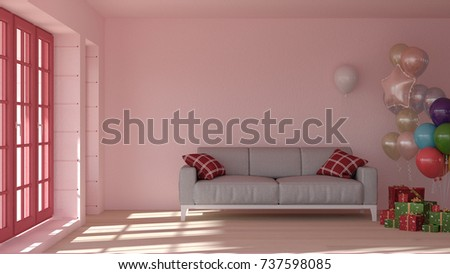 Interior Room 3 D Rendering Sofas Living Room Stock Illustration ...