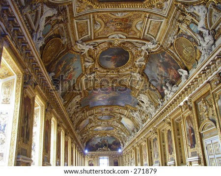 Interior Room of Versailles - stock photo
