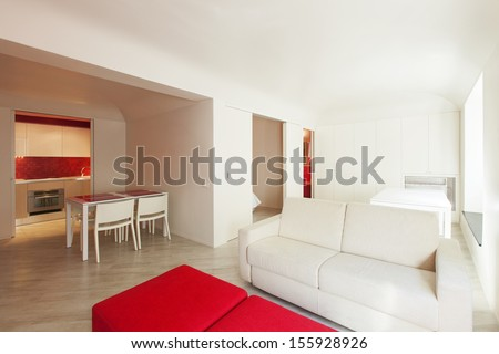 Interior room with nice furniture inside
