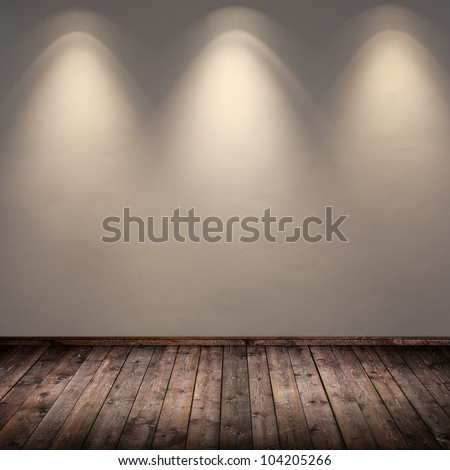 interior room with spots - stock photo