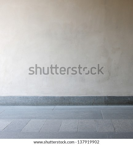 interior room with stained floor - stock photo