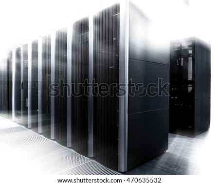 interior shot of a computer data center