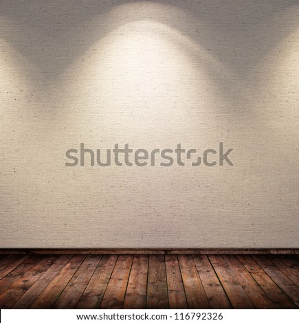 interior spotted room - stock photo