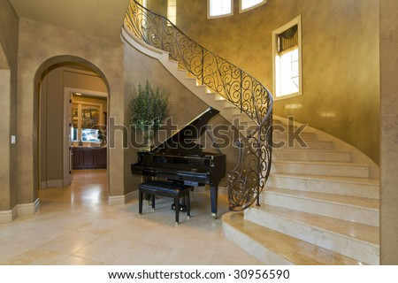 Interior Stairway - stock photo