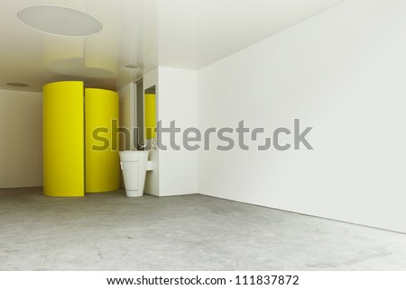 interior view of a modern hotel room - stock photo