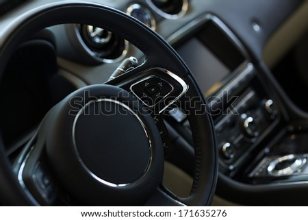 Interior view of car  - stock photo