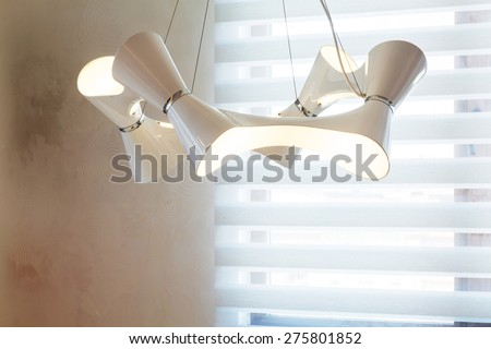 Interior view of light in house. - stock photo